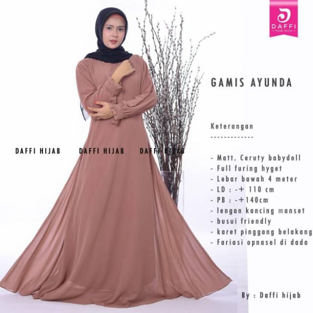Daffi hijab || Gamis AYUNDA DAFFI || Gamis Formal dan Informal