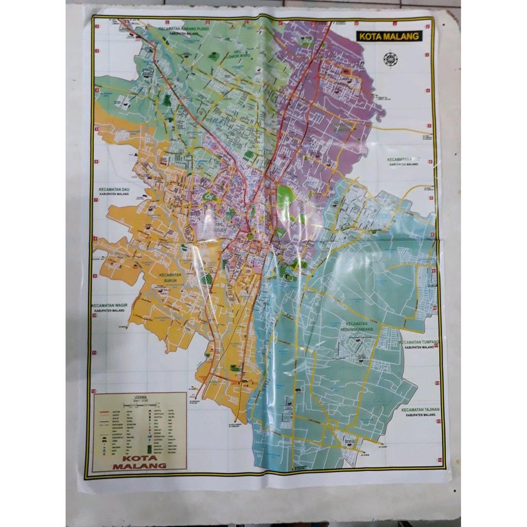 Peta Kota Malang Dan Kabupaten Malang Shopee Indonesia