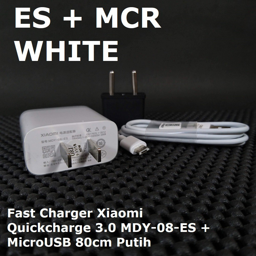 MDY-08-ES Fast Charger Xiaomi MicroUSB Original Mi 4i Note Redmi 4X 3X 3S Pro Prime Ori 100% | Shopee Indonesia