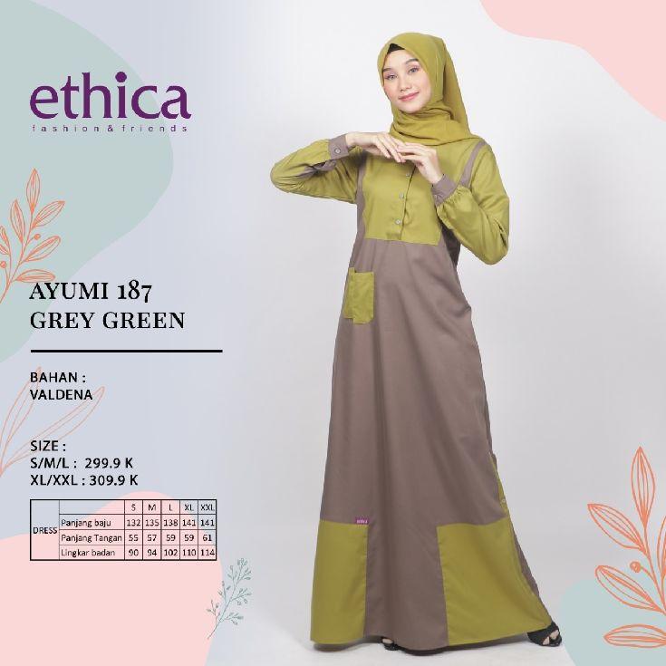 Koleksi Gamis Ethica Terbaru Ayumi 187 Shopee Indonesia