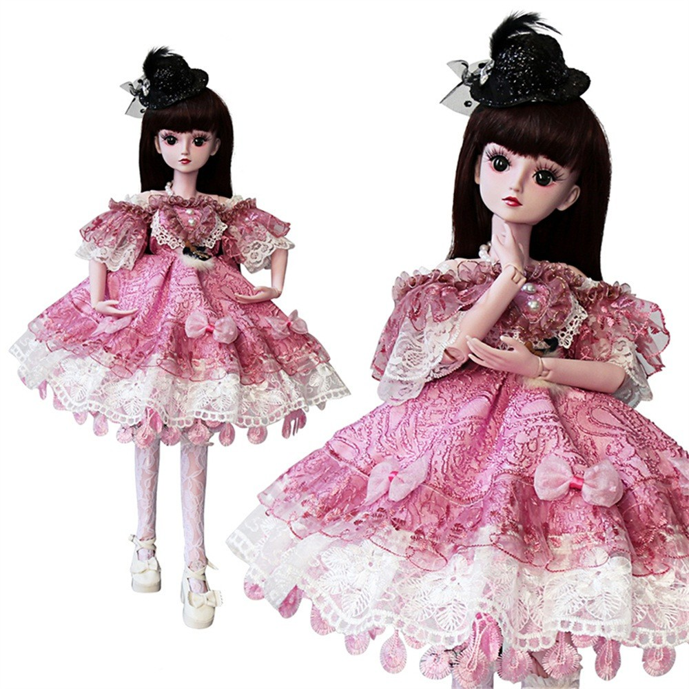 Bjd 1//3 Doll Amber Girl big elf ear FREE FACE MAKE UP+EYES