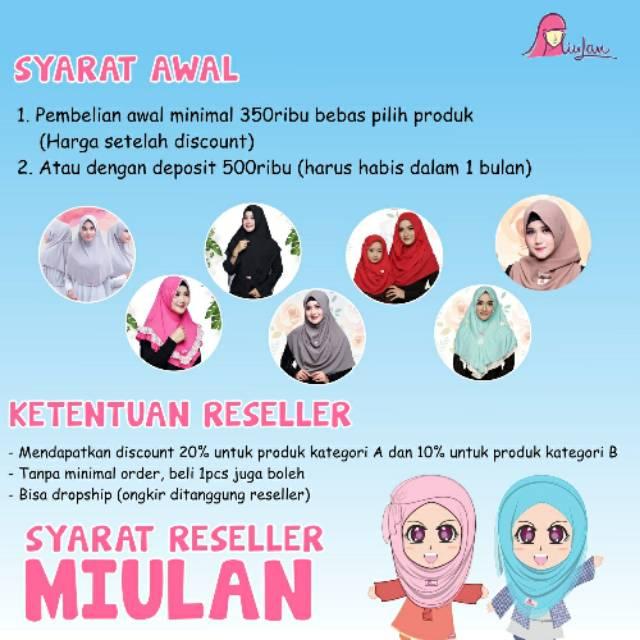 Jilbab Miulan Paket Reseller Miulan Syarat Reseller Miulan Reseller Busana Muslim Miulan Shopee Indonesia