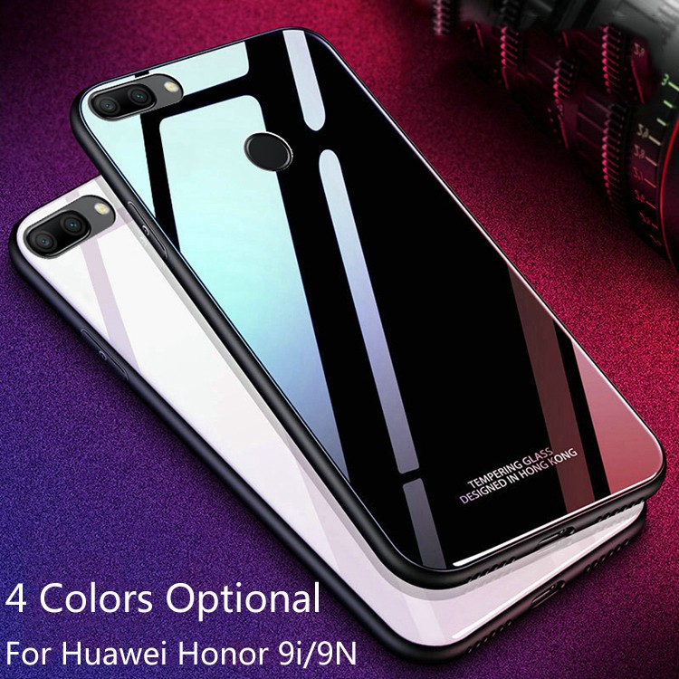 best sneakers 9028a 93ca2 Casing Pelindung Belakang Bahan TPU + Tempered Glass untuk Huawei Honor 9i
