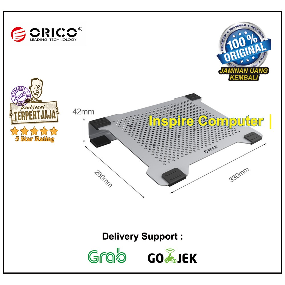 Orico Na15 Sv Full Aluminium Double Fan Cooling Pad For Notebook H7013 U3 Bk Bc 7 Ports Usb30 Hub Shopee Indonesia