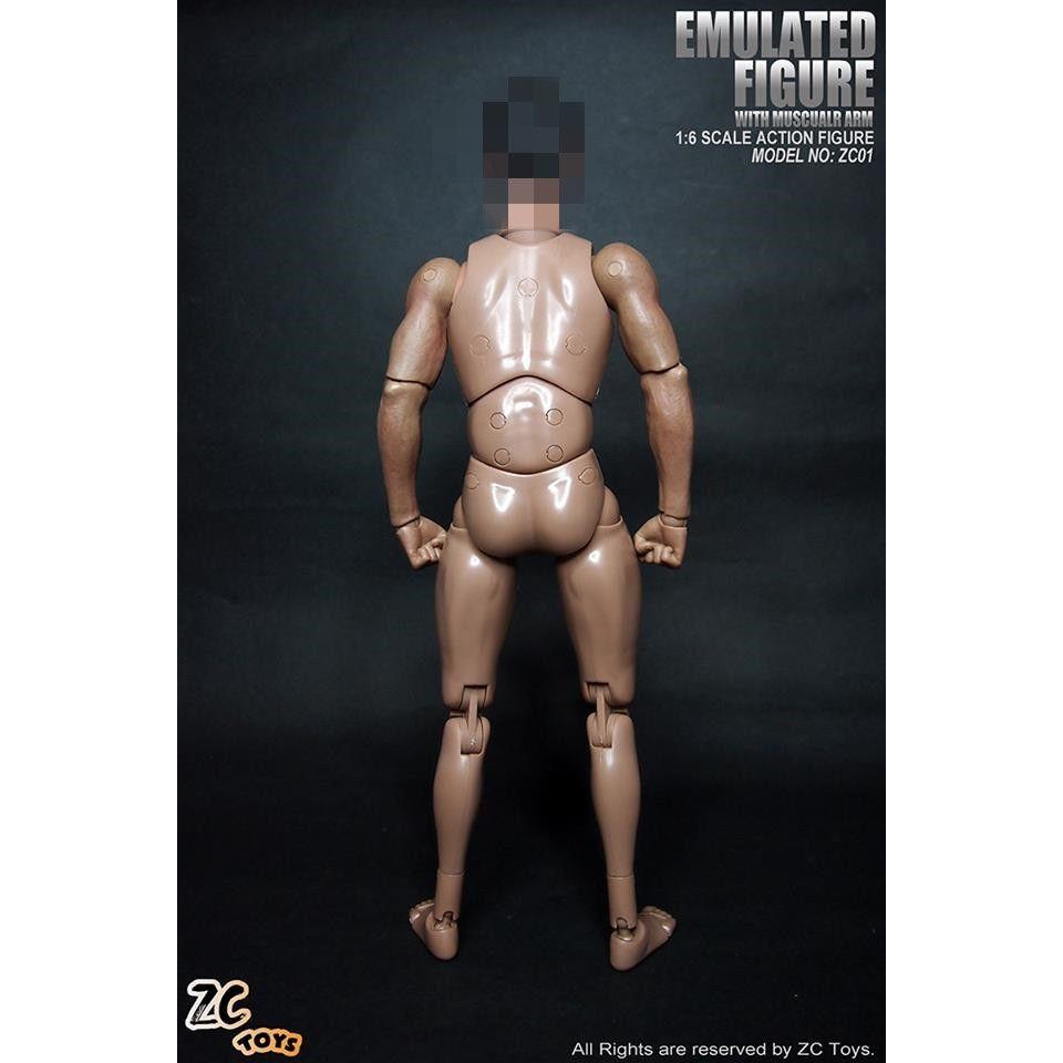 "ZCTOYS 1//6 Male Muscular Action Figure Body No Neck Fit 12/"" Head Sculpt Hot Toys"