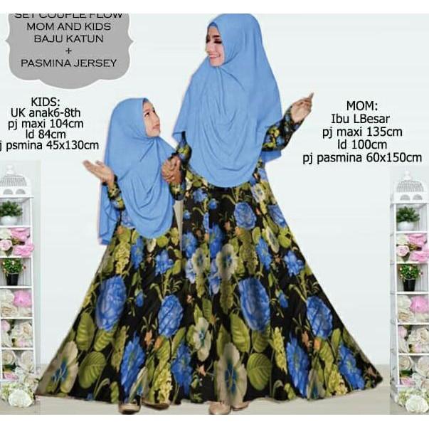 Baju Busana Muslim Gamis Salsa Couple Ungu Ibu Dan Anak Plus Hijab  Belleza Shop77  89dd27a5fa