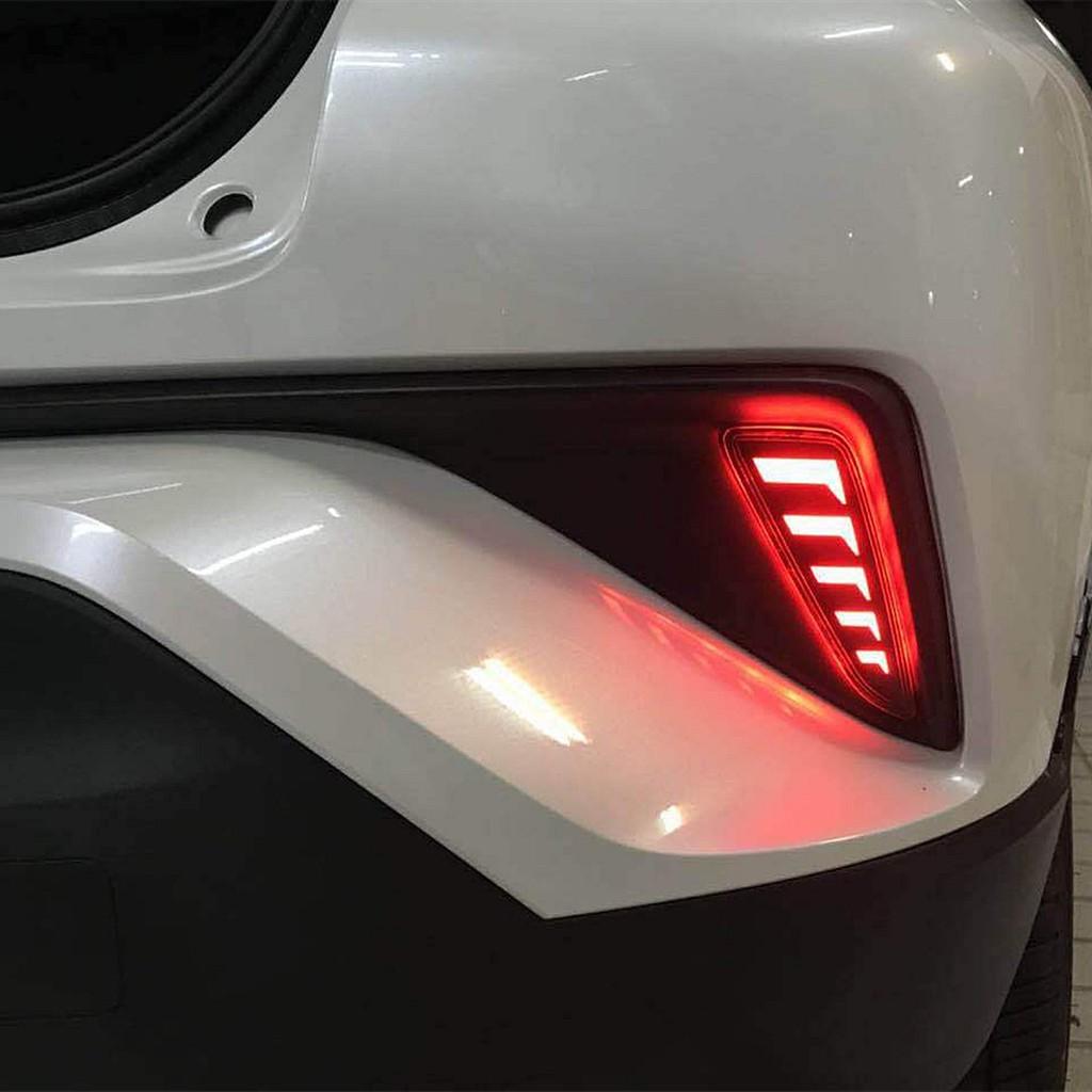 1 Pair Car Rear Fog Lights LED Bumper Tail Light For Toyota CHR C-HR 2017-2018