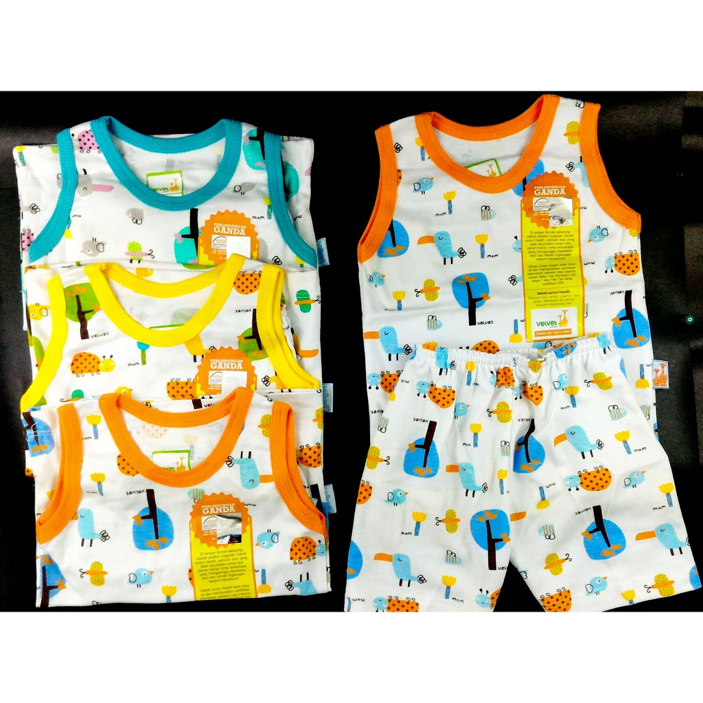 Setelan Bearbee 3set Baju Oblong Pendek Celana Shopee Lengan Ampamp Newborn 3 Set Indonesia