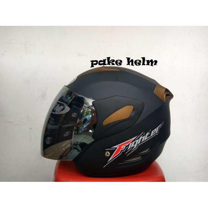 305a04f4 HELM GM INTERCEPTOR SOLID DOUBLE VISOR HITAM DOFF | Shopee Indonesia