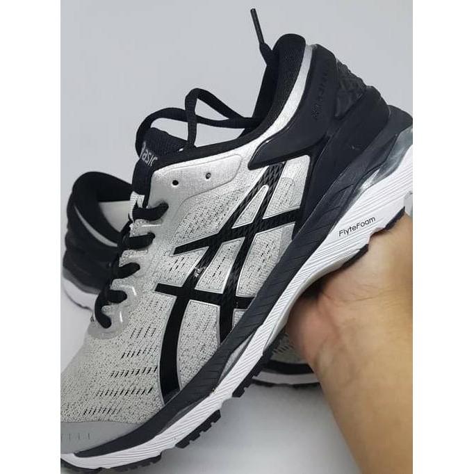 Best Seller Sepatu Running Gym Volly Asics Gel Kayano 24 Black White Murah   11baa4fa0d