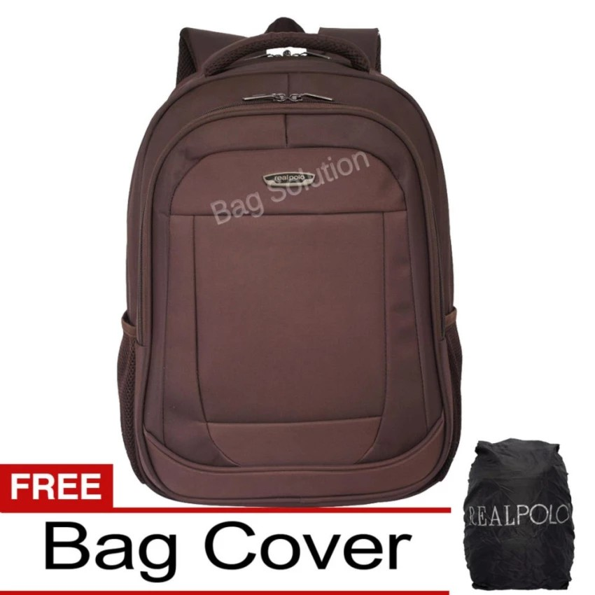 Real Polo Tas Ransel Laptop Waterproof 8313  Free Bag Cover ... ea9a9639ea2b2