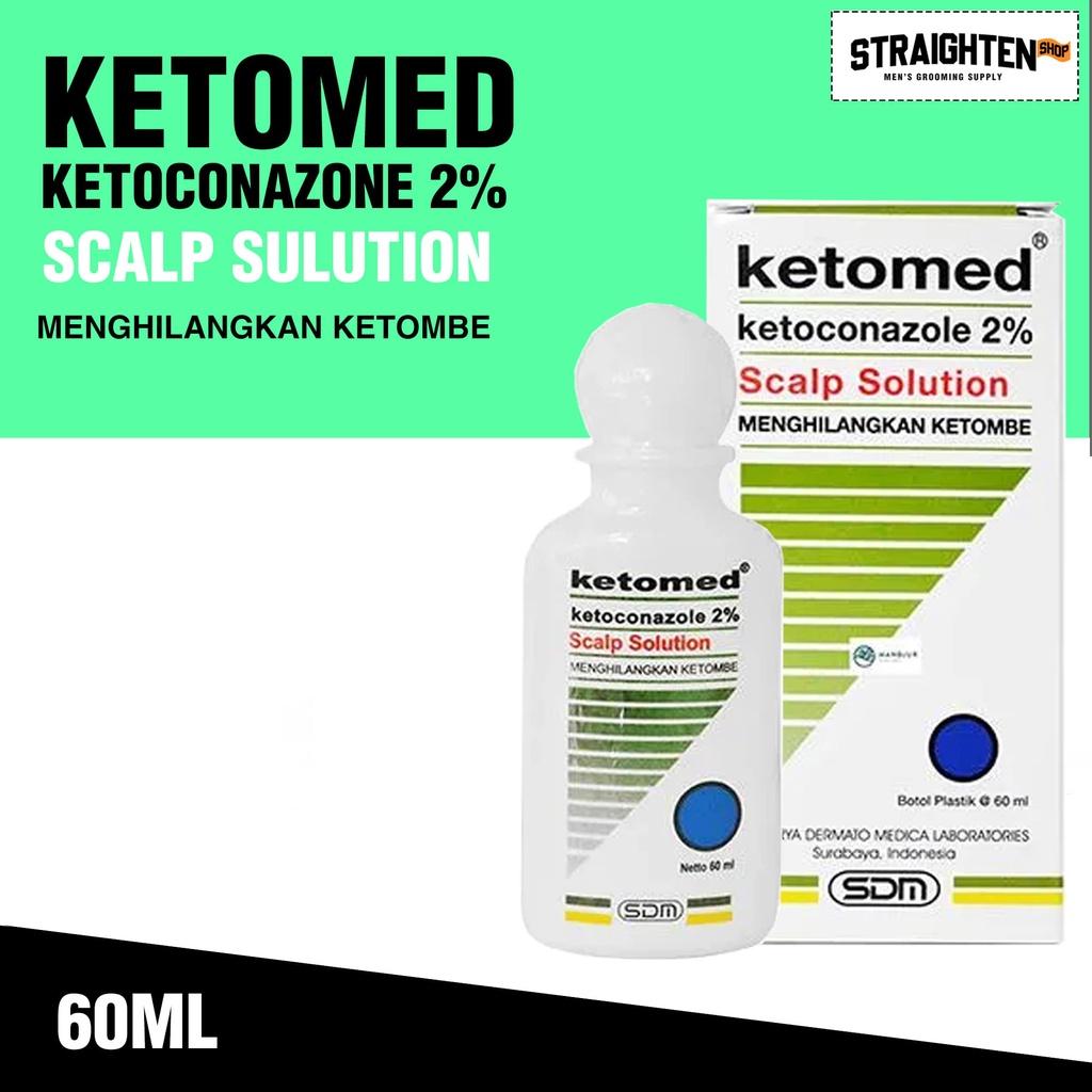 Ketomed Ketoconazole 2% Scalp Solution Shampoo Anti Ketombe Jamur