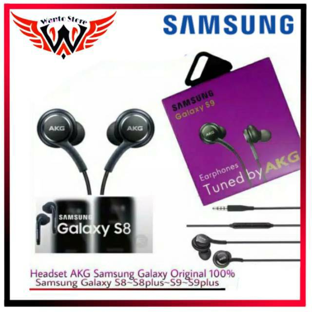 Headset AKG Original 100% Samsung Galaxy S8 S8plus S9 S9plus