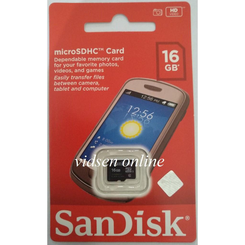 Sandisk Ultra Micro Sd Microsd Card 16gb 80mbps Class 10 Garansi 48mbps Resmi Shopee Indonesia