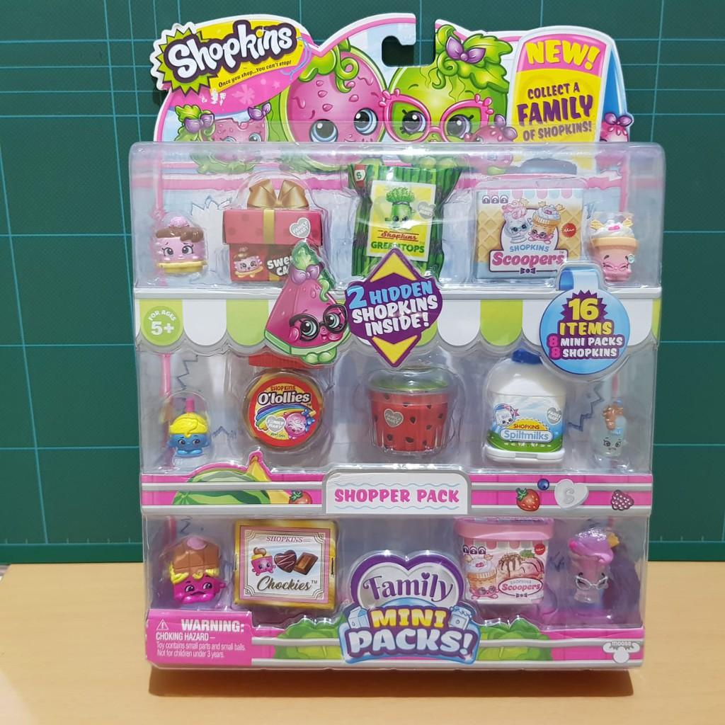 Shopkins Family Mini Packs Mini Pack A Original By Moose Shopee Indonesia