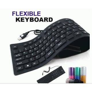 Keyboard Flexible Lipat Keyboard Karet Usb For Komputer Dan Laptop Keyboard Anti Air Super Slim Shopee Indonesia