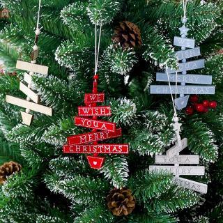 dekorasi gantungan pohon natal bahan wood ukuran 11.5 x