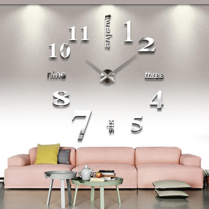 Cod Home Decor Diy Wall Clock Mirrored Wall Clock Acrylic Clocks Shopee Indonesia
