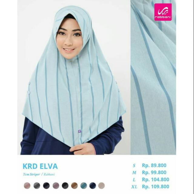 Jilbab Bergo Instan Krd Elva L By Rabbani Shopee Indonesia