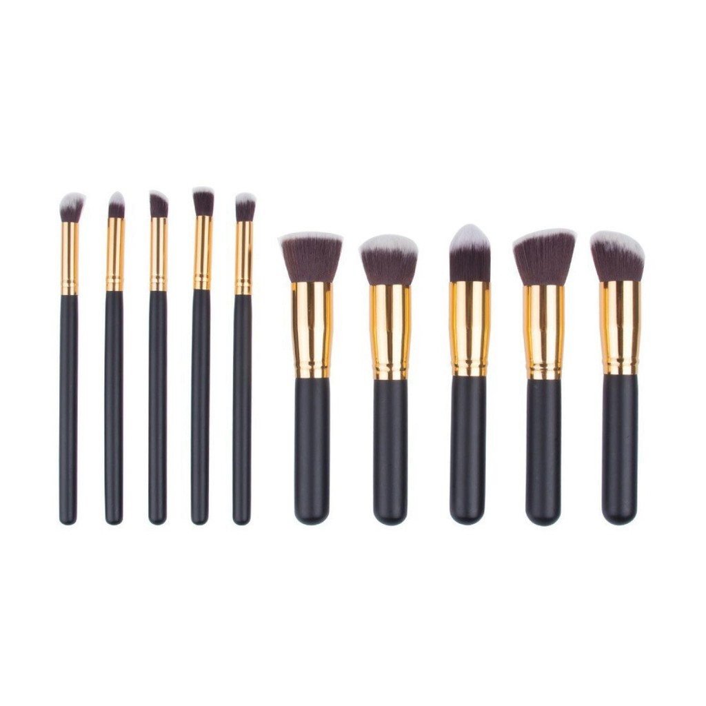 Bs003 Set Kuas Make Up Wajah Isi 10 Pcs Makeup Brush Mata Cosmetics Brushes