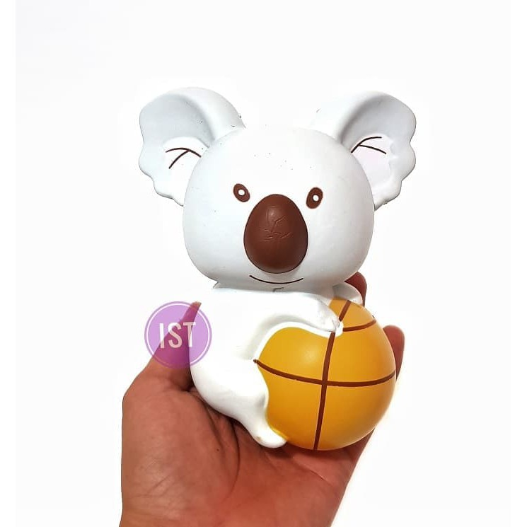 Squishy Jumbo Soft Cute Koala with Ball Slow Rising Reduce Pressure Stress Relief Squeeze Toy Gift | Shopee Indonesia