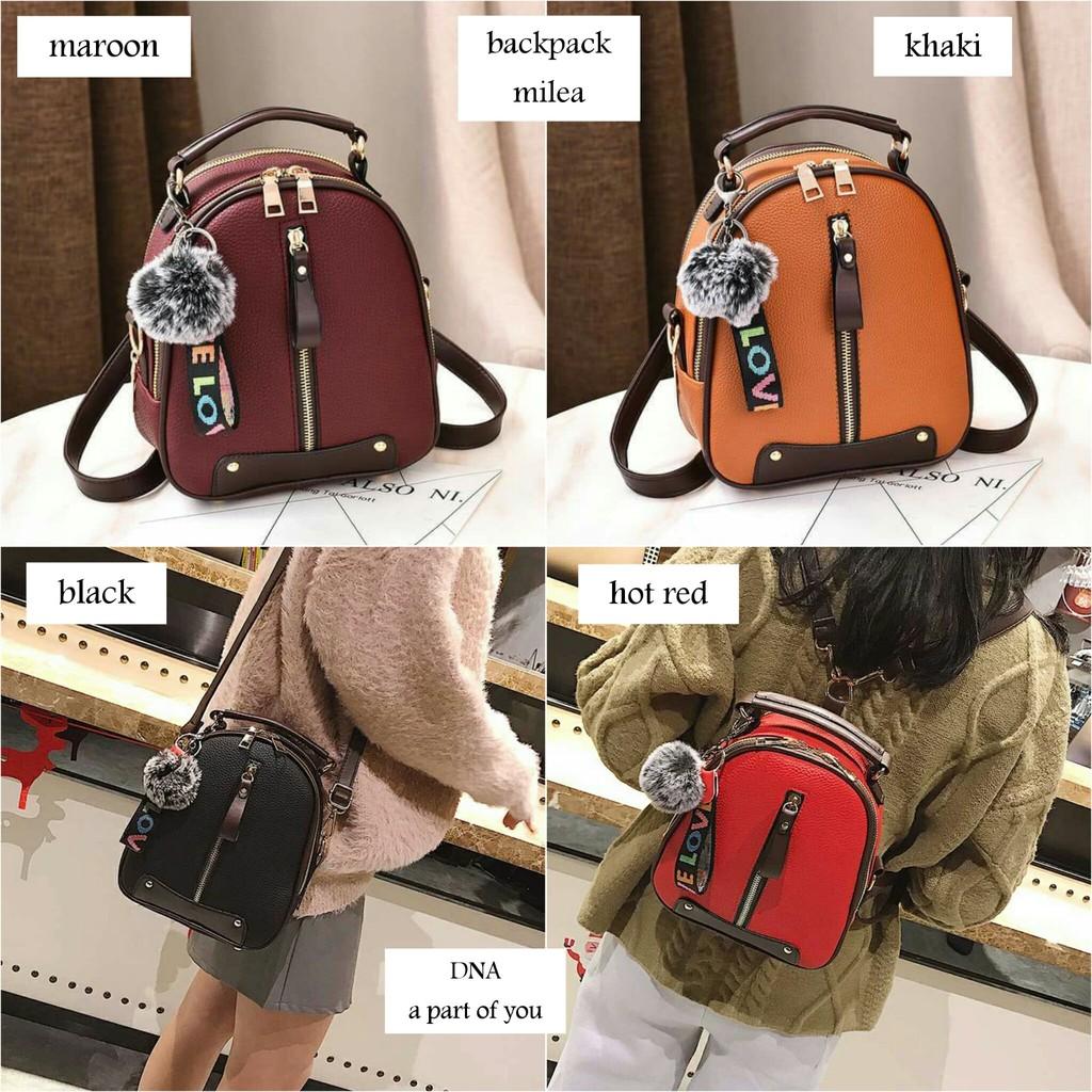 997 Ransel Korea Import Backpack Cewek Ransel 3in1 Tas laptop kulit TAS  PUNGGUNG  ccdd4dc7b1