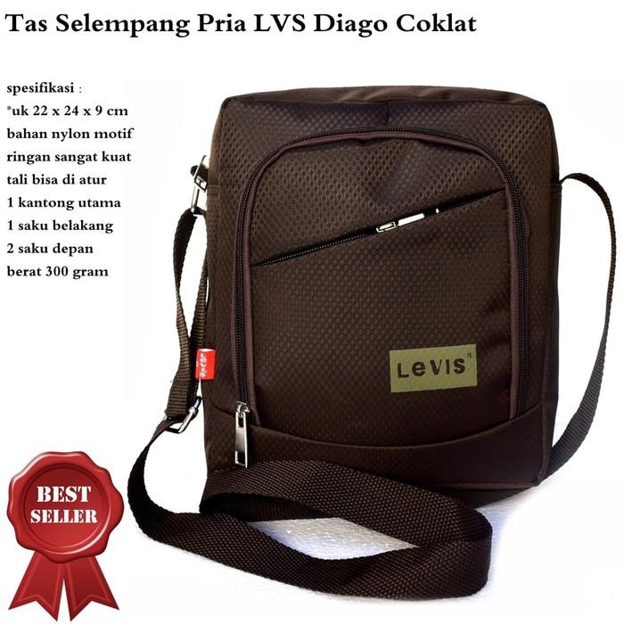 MURAH Tas Pria Selempang Kulit USB Port Premium Cowok Import Impor Anti Air | Shopee Indonesia