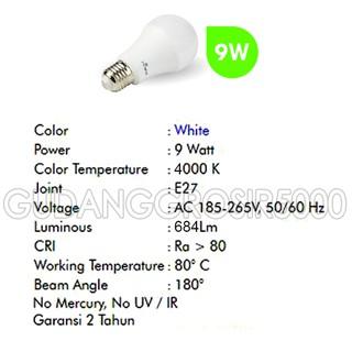 Non Dimmable Garansi 24 Bulan Source Detail Harga Hiled Bohlam LED Bulb 220V .