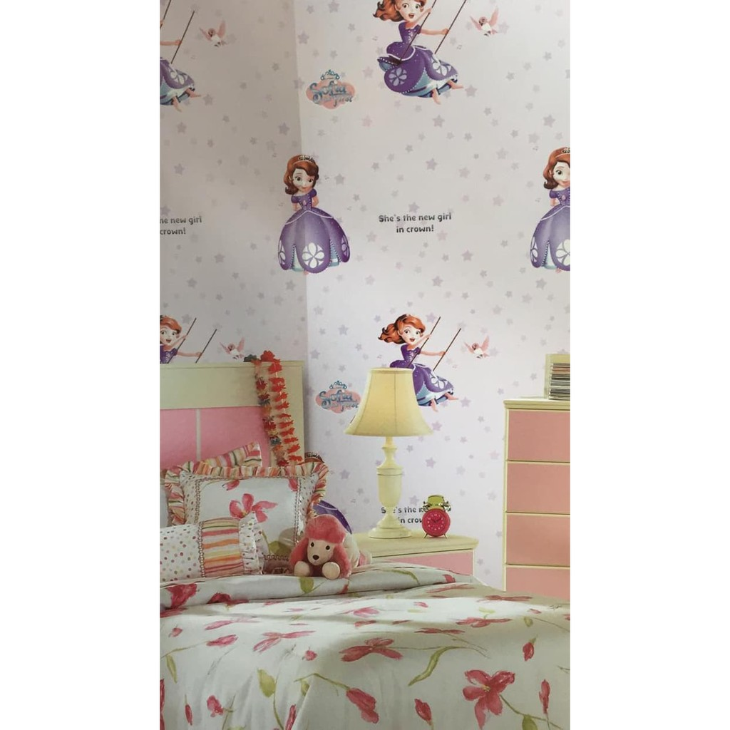 Wallpaper Dinding Anak Motif Princess Sofia First Kids Berkualitas