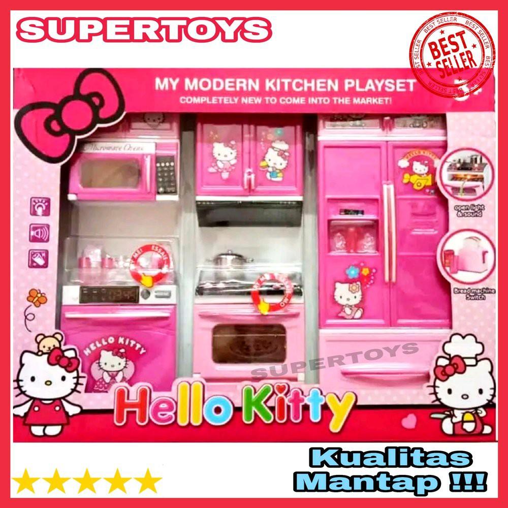 Baru Modern Kitchen Set Hello Kitty Jumbo Ukuran Besar Mainan Masak Masakan Anak Mainan Dapur Shopee Indonesia