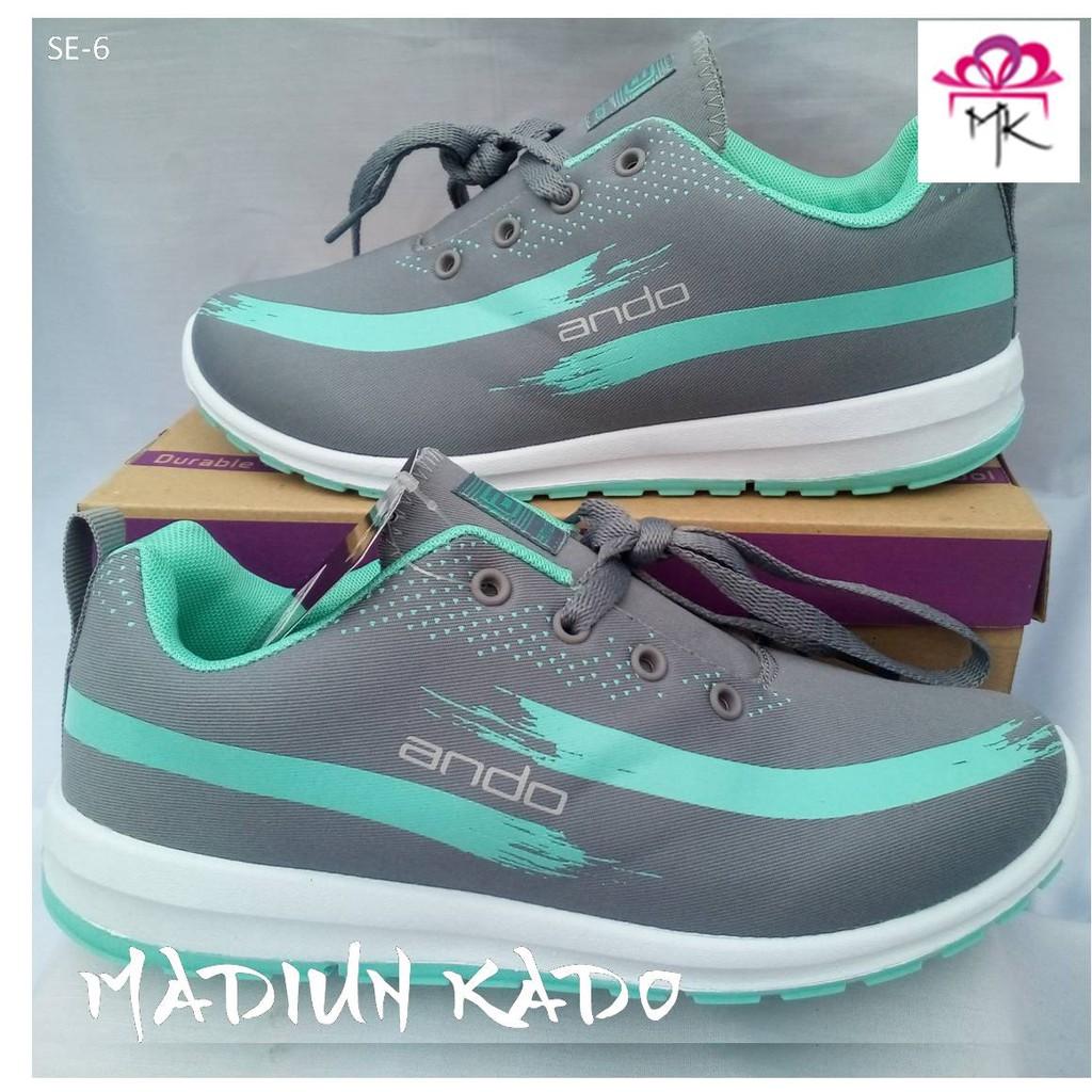 Sepatu Ando Lindsey 37-40 Grey Green Tosca. Ke Toko 2054ca2059