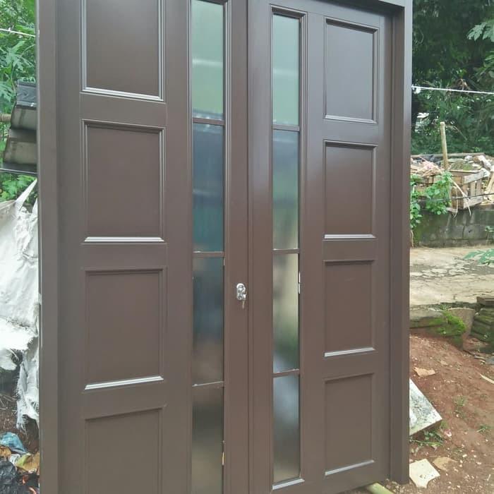 Pintu Panel Aluminium Kombinasi ACP
