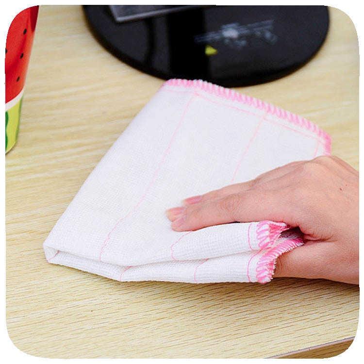 Wood Fiber Towel Bowl Dish Dishcloth Kitchen Washing Cleaning Tools New