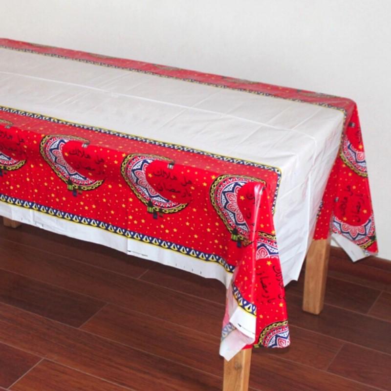 Eid Mubarak Ramadan Disposable Tablecloth Waterproof   Moslem Islamism Decor