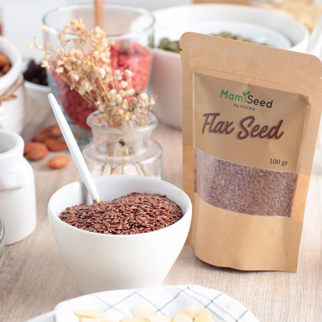Mamiseed Flax Seed 500gr Biji Rami Flaxseed Shopee Indonesia