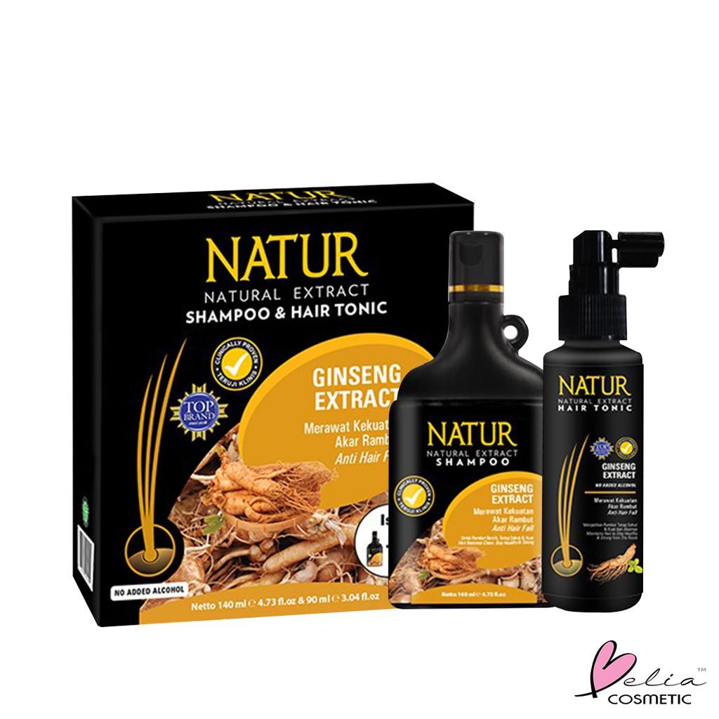 ❤ BELIA ❤ NATUR Hair Mask   Hair Vitamin   2 in 1 Shampoo & Hair Tonic(✔️BPOM)-N.2in1 Shampoo+Tonic