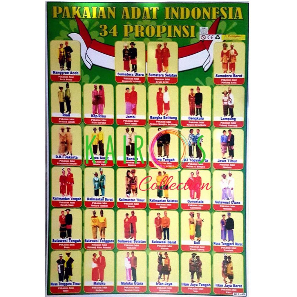 Poster Pakaian Adat Nusantara Shopee Indonesia