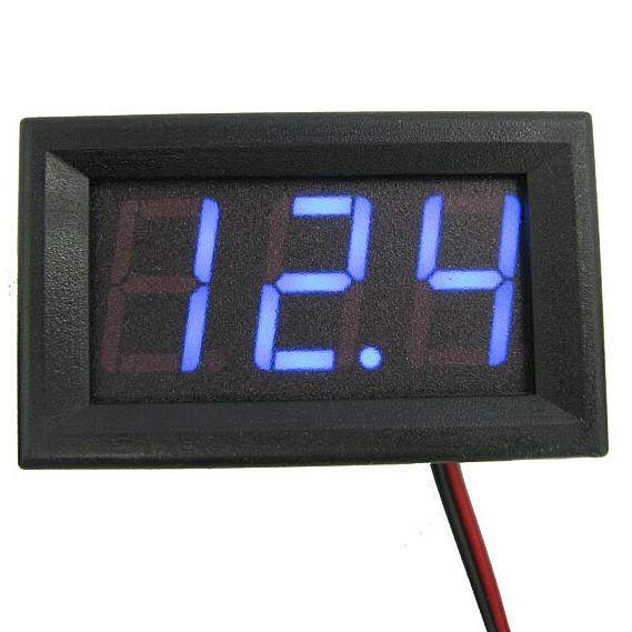 LED DC3.0-30V Blue Volt Voltage Meter Display 2 Wire Digital Voltmeter