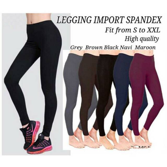 Celana Legging Polos Import Shopee Indonesia