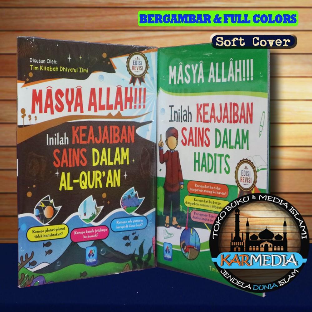 Paket 2 Buku Masya Allah Inilah Keajaiban Sains Dalam Al Quran Hadits Pustaka Arafah Karmedia Shopee Indonesia