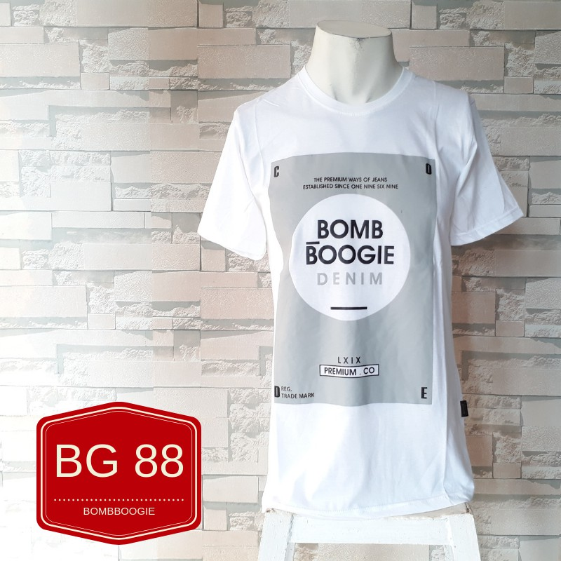 Kaos distro pria BOMBBOOGIE baju murah bhan katun  95811d162e