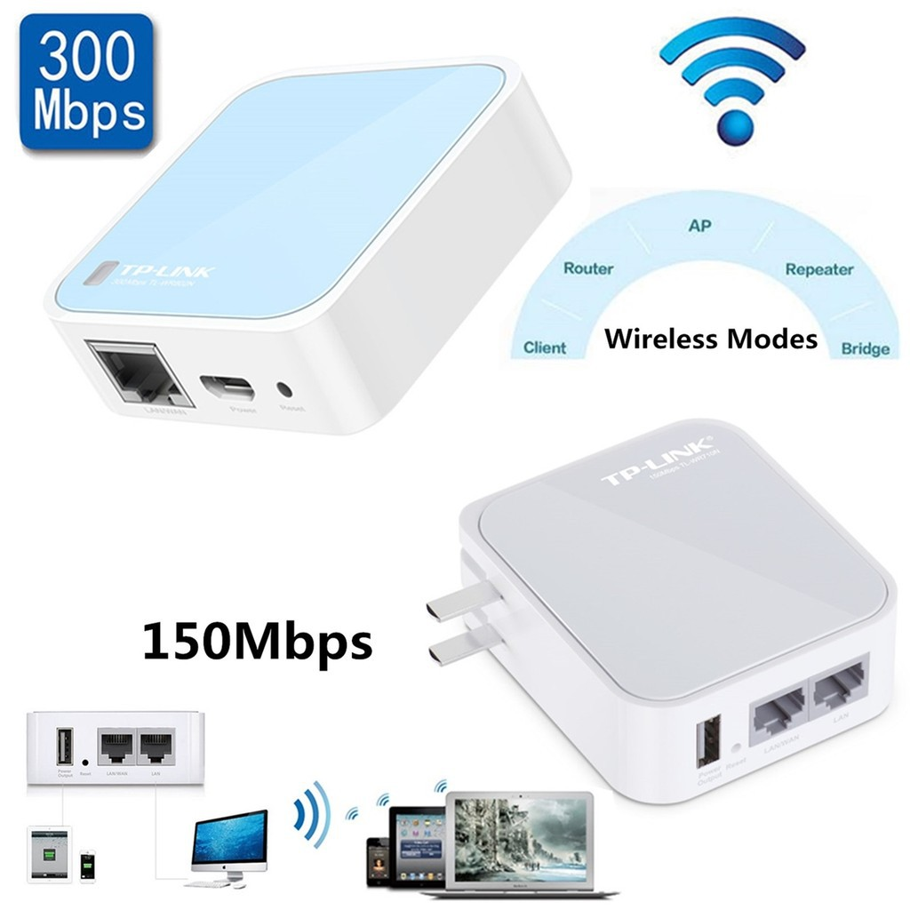 TL-WR802N 300Mbps Wireless MIni Router Portable TP-Link TL-WR710N 150Mbps