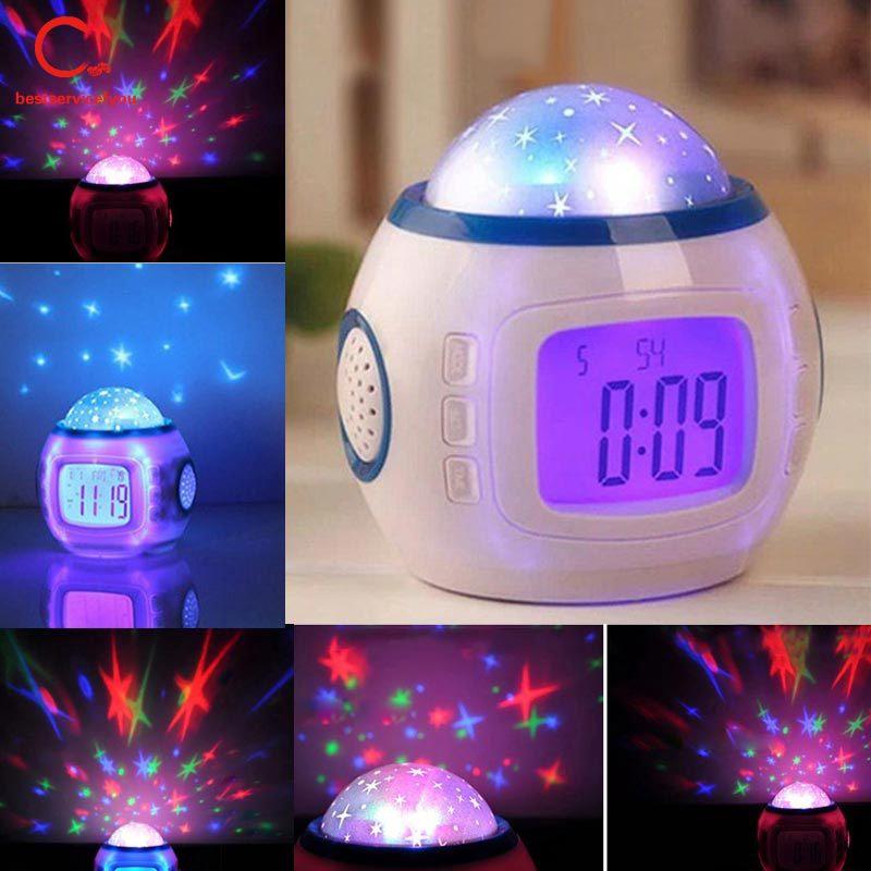 Projection Clock Luminous Electronic Creative Alarm Mute Child Student Individuality Little Bedside Alarm Clock Shopee Indonesia