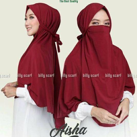 Bergo Cadar Jilbab Instan Niqob Jumbo Khimar Niqab Hijab Masker Shopee Indonesia