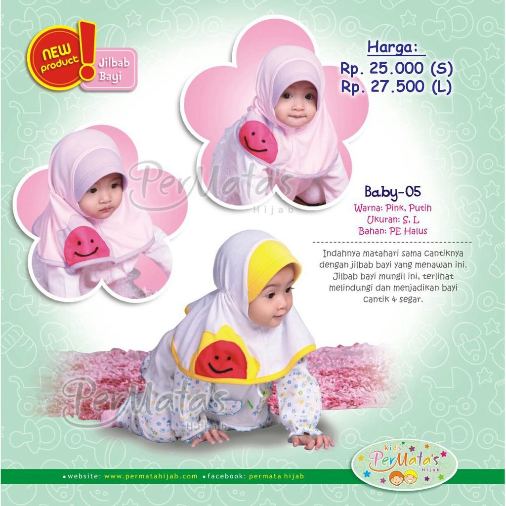 Jilbab Anak Topi Bunga Polka Hijab Bayi 0 2 Th Kerudung Dan Bando Shopee Indonesia