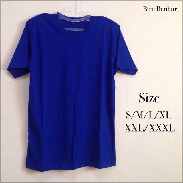 Baju Polos Tangan Pendek Bahan Cotton Combed 30s Model Untuk Cewek Dan Cowok Ukuran S M L Xl Xxl Shopee Indonesia
