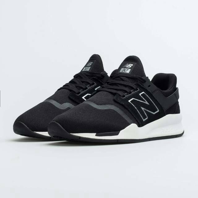 Sepatu New Balance 247 Lifestyle Black White Original