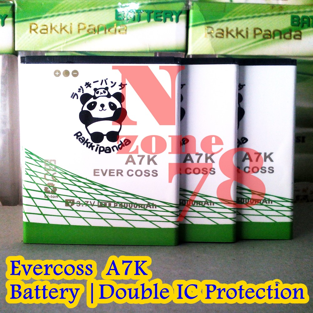 Baterai Evercoss A75 Winner Y Max A75g Y2 A75a Ultra Rakkipanda A7z Double Ic Protection Shopee Indonesia