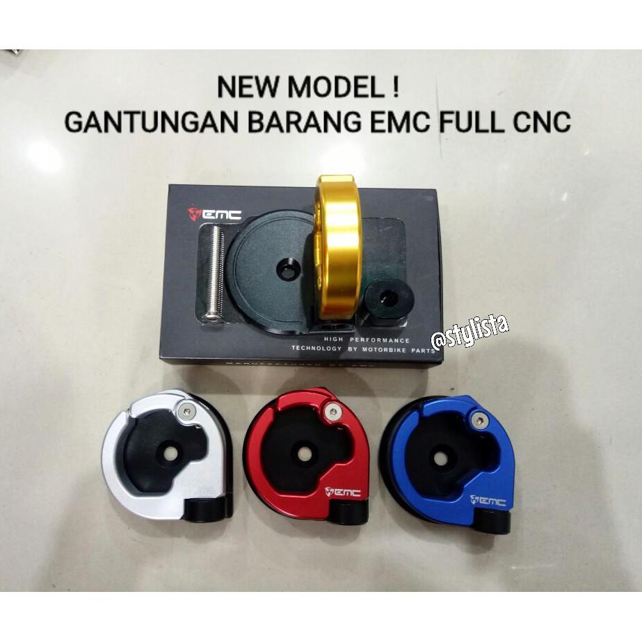 Gantungan barang NEW MODEL ! merk EMC full CNC Nmax/universal motorcycle | Shopee Indonesia