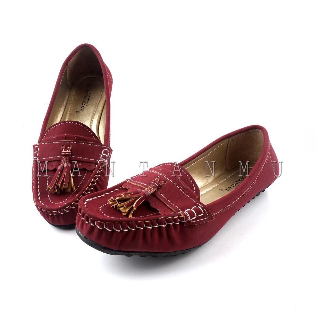 MANTANMU - Sepatu Flat Shoes Murah Gratica RJ28 Maroon | Shopee Indonesia